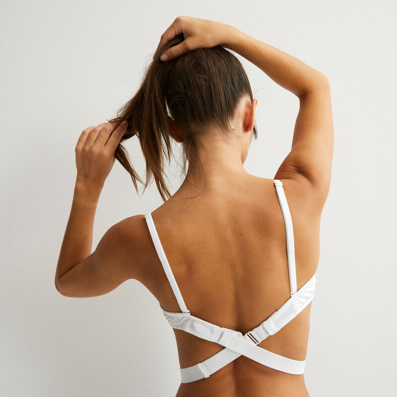 Magique strapiz white bare back strap converter;