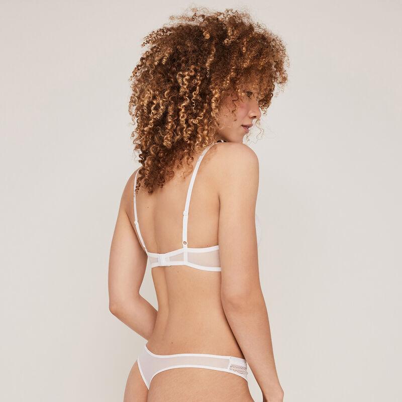 New voltiz white padded demi-cup bra;