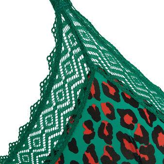 Szmaragdowy biustonosz trójkątny hindiz green.
