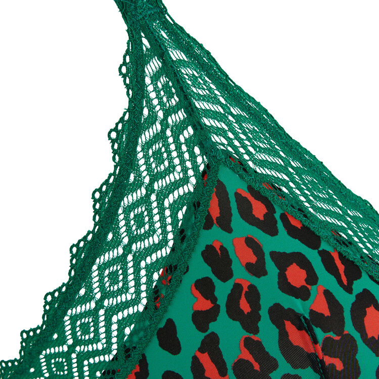 Hindiz emerald green triangle bra;