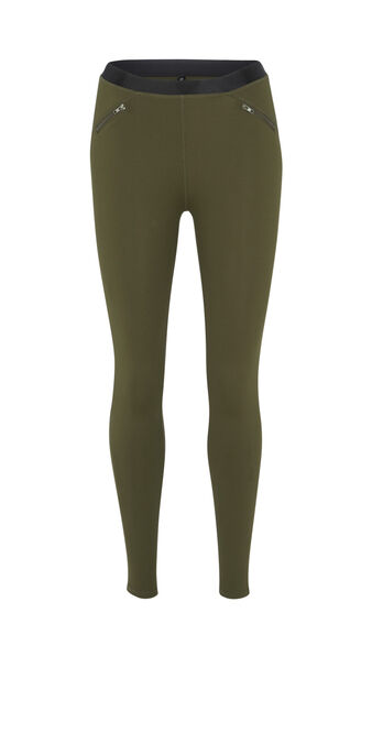 Legging kaki shinystelliz green.