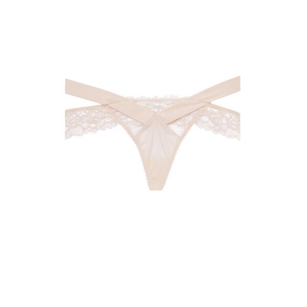Cutoutiz pale pink thong;
