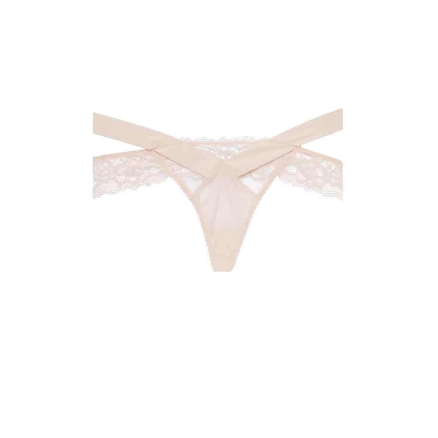 Cutoutiz pale pink thong;