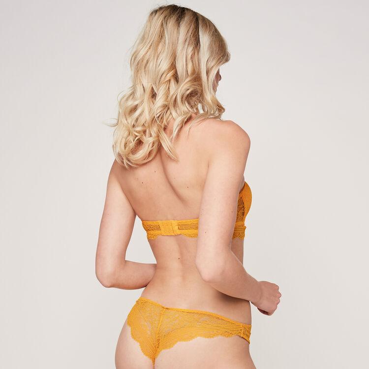 Everydayiz saffron yellow bandeau bra;