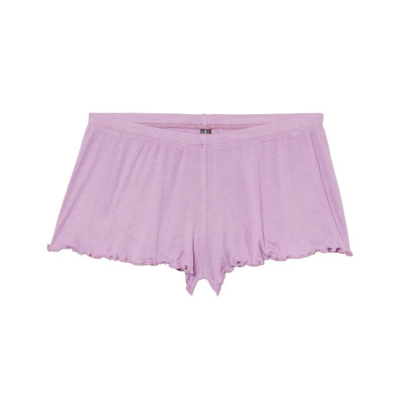 шорты с вырезом - лиловый;