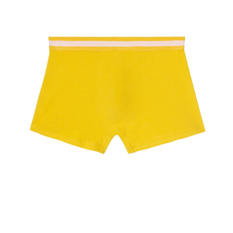 однотонные трусы-боксеры из хлопка - желтый;