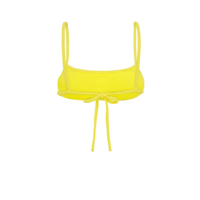 Желтый верх купальника sikiniz;