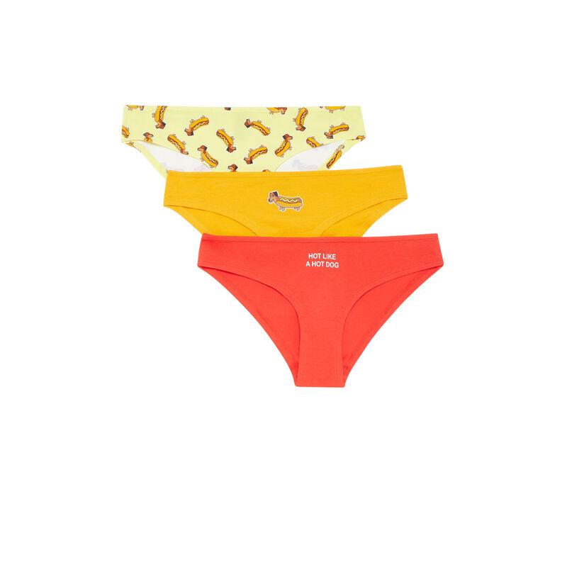 Pack of cotton briefs - orange;