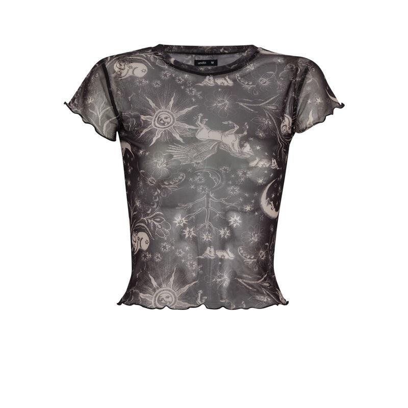 Mesh atro top - black ;