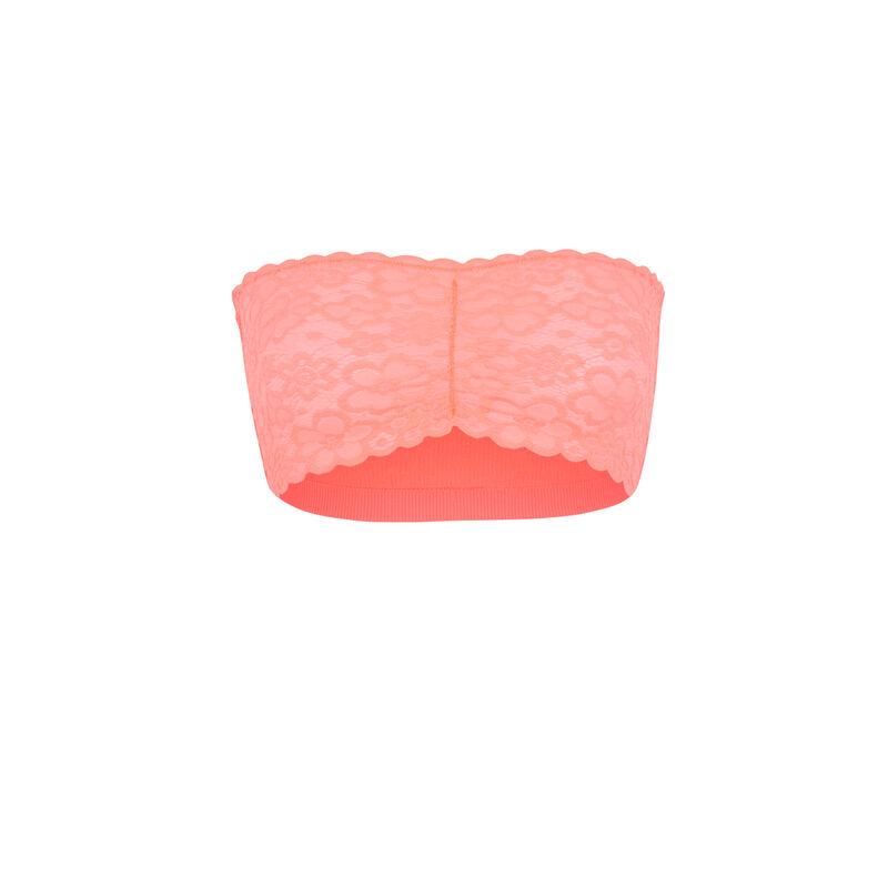 Biustonosz bandeau bez fiszbin - różowy;