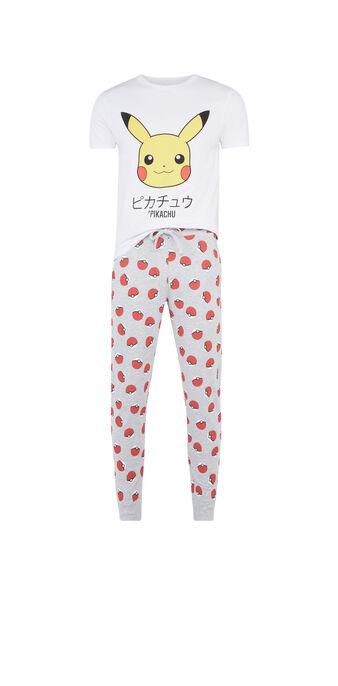 Weißes pyjama-set für herren pikatiz white.