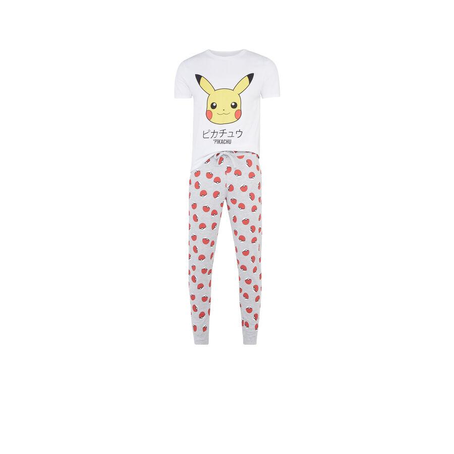 Белый мужской пижамный комплект pikatiz;