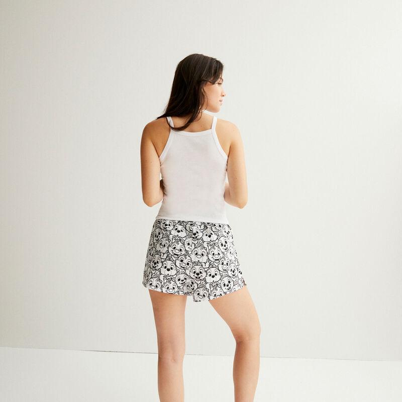 Chip 'n' Dale print shorts - white;