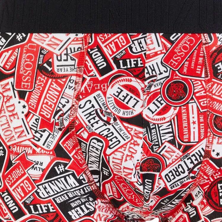 Autocolliz printed cotton boxers;