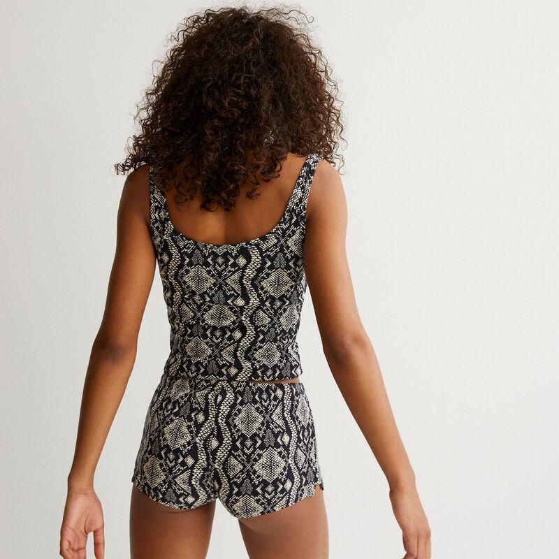 python print shorts - ecru;