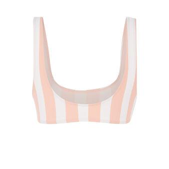 Haut de maillot de bain bralette pink.