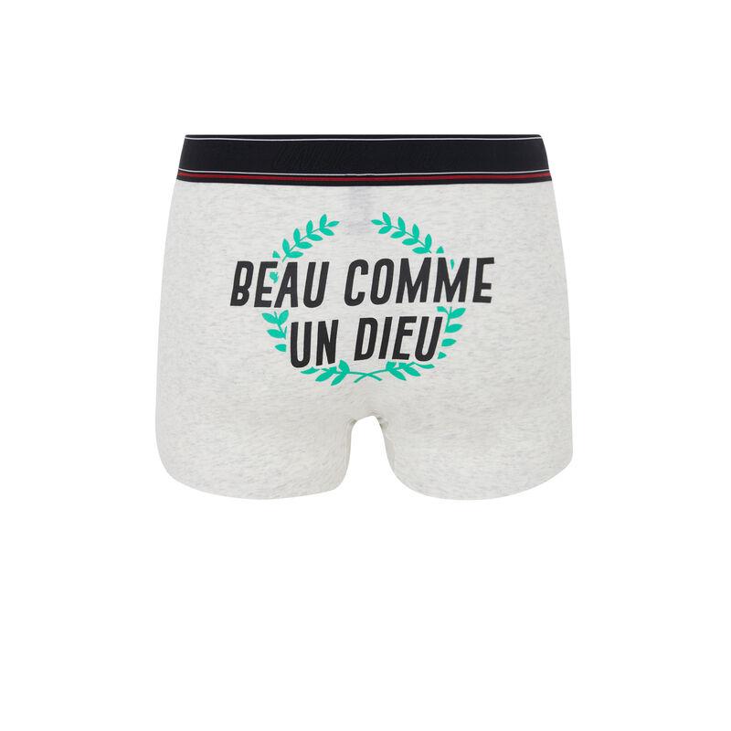 Hellgraue Boxershorts Beauteiz;