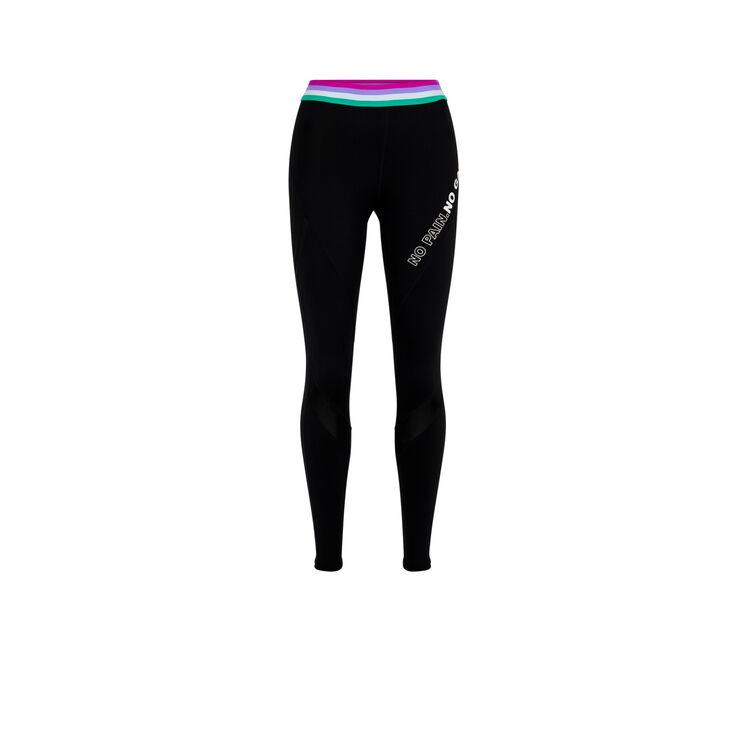 Polasportiz plain sports leggings with elasticated band;