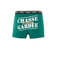 Зеленые хлопковые трусы-боксеры chagardiz green.