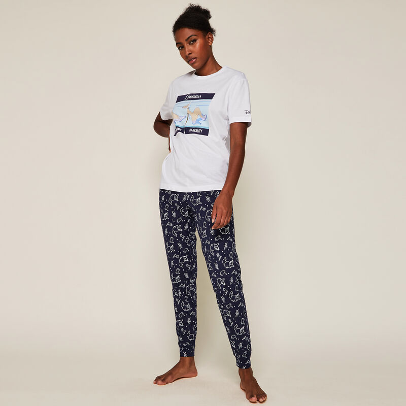 Trousers with Cinderella trademark pattern ;