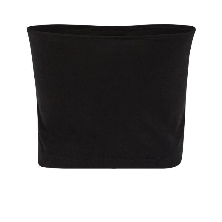 Czarny top bandeau croversiz;
