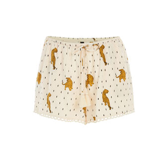 Tigroupiz beige shorts white.