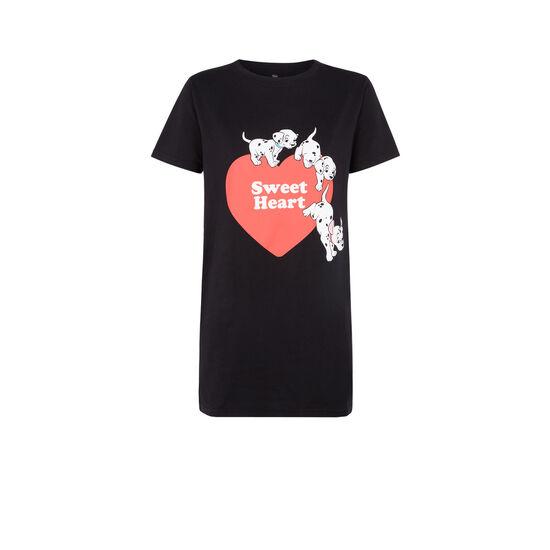 Cuteafiz black tunic T-shirt;
