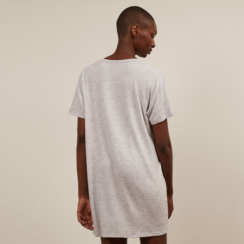 short-sleeved tunic - grey ;