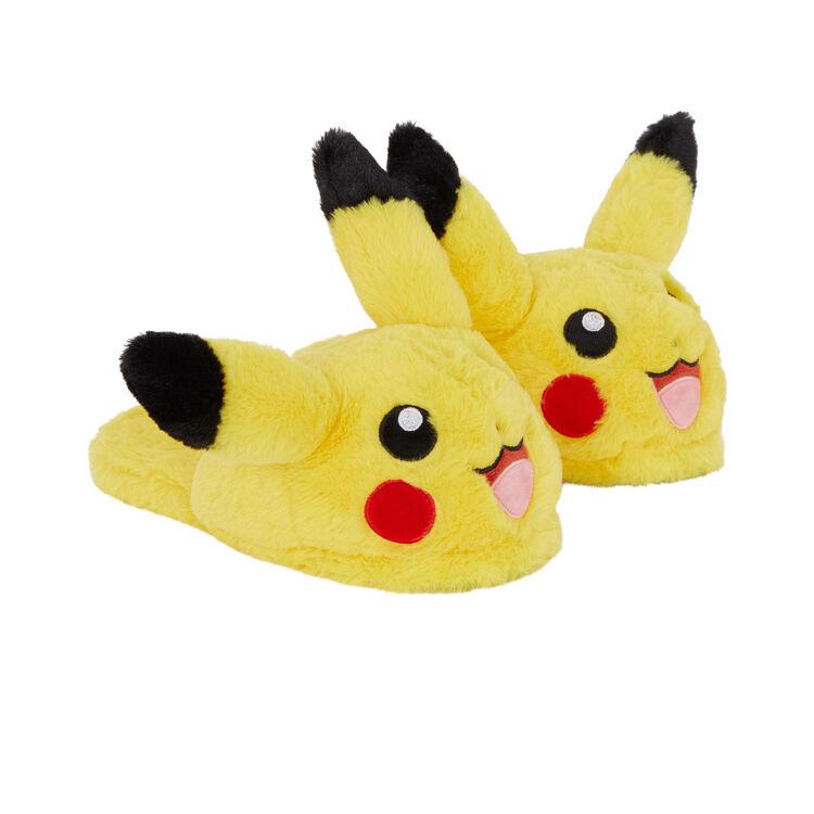 Pikatiz Pikachu print fleece slippers;