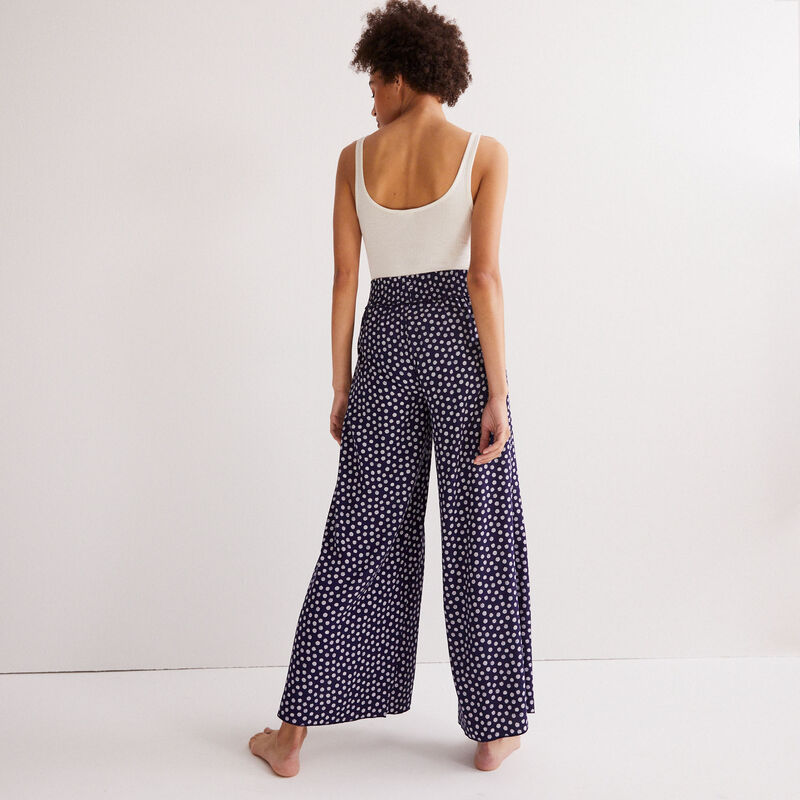 daisy pattern trousers - blue;
