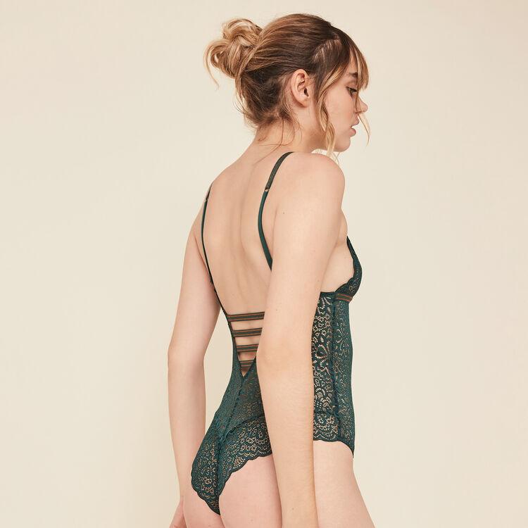 Body ohne Bügel aus Spitze lurexbandiz;
