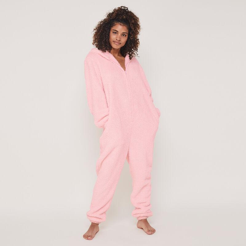Rondoudiz Jigglypuff print fleece jumpsuit;