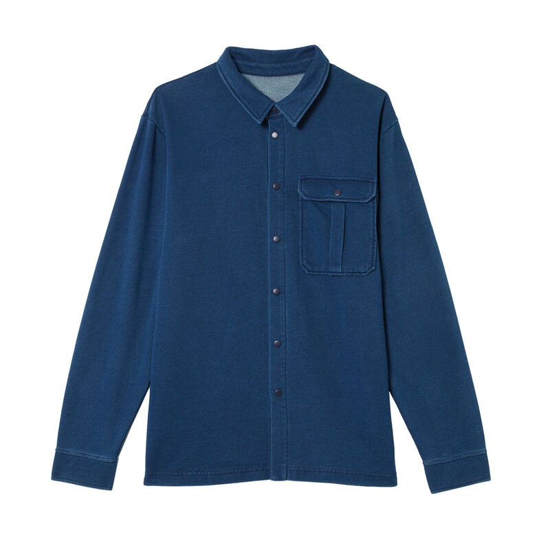 dżinsowa koszula z kieszeniami — kolor niebieski;