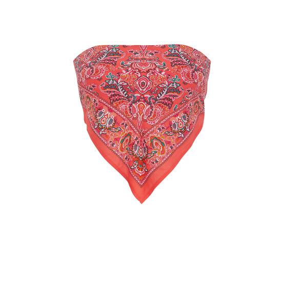 Bohemianiz coral bandeau top;