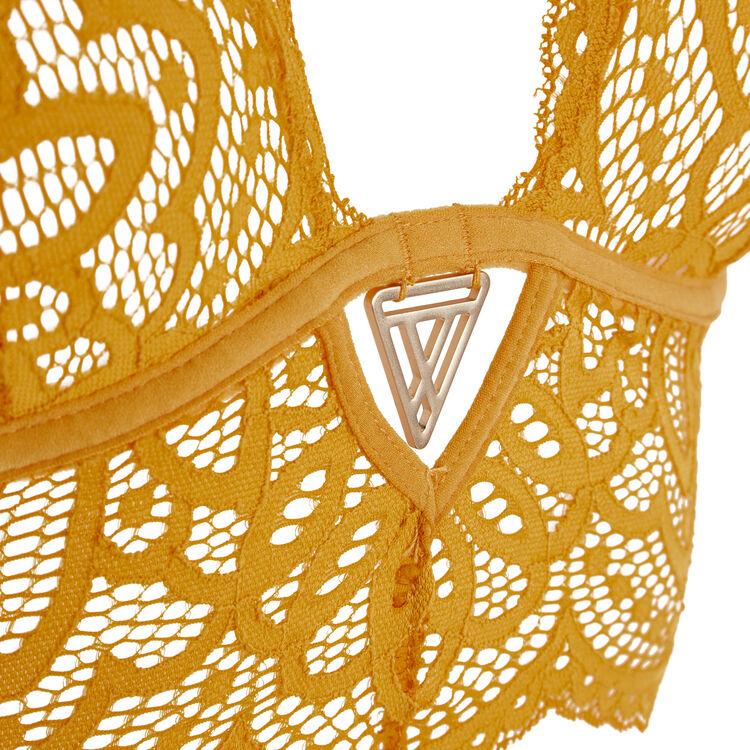 Золотистый бюстгальтер с треугольными чашками precieusiz;