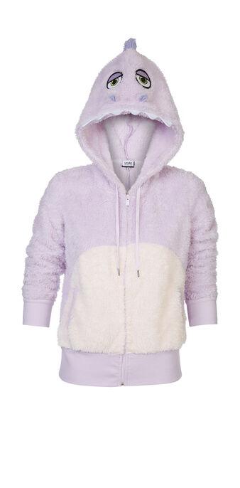 Veste peluche violet clair dinoriz purple.