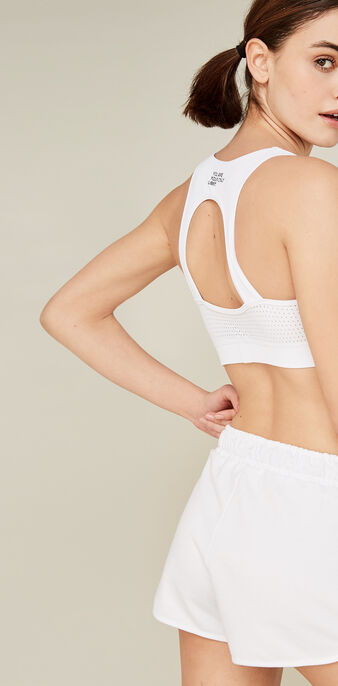 Brameshiz white sports bra  white.