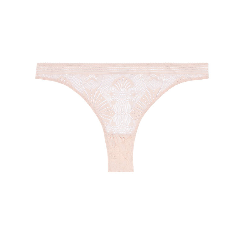 tanga briefs with tie detail - nude pink;