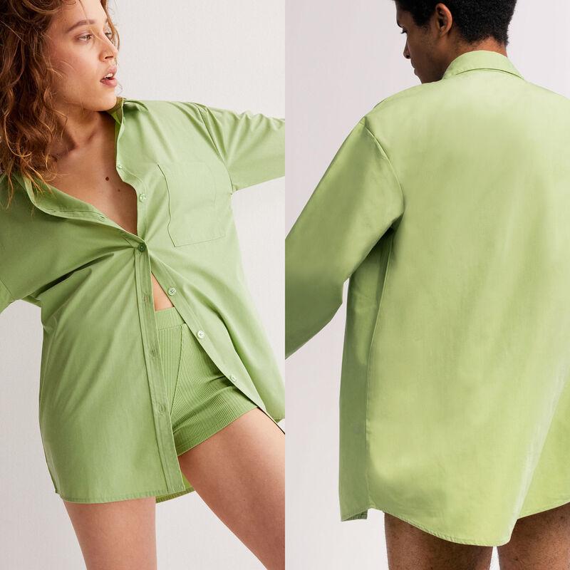рубашка унисекс - зеленый;