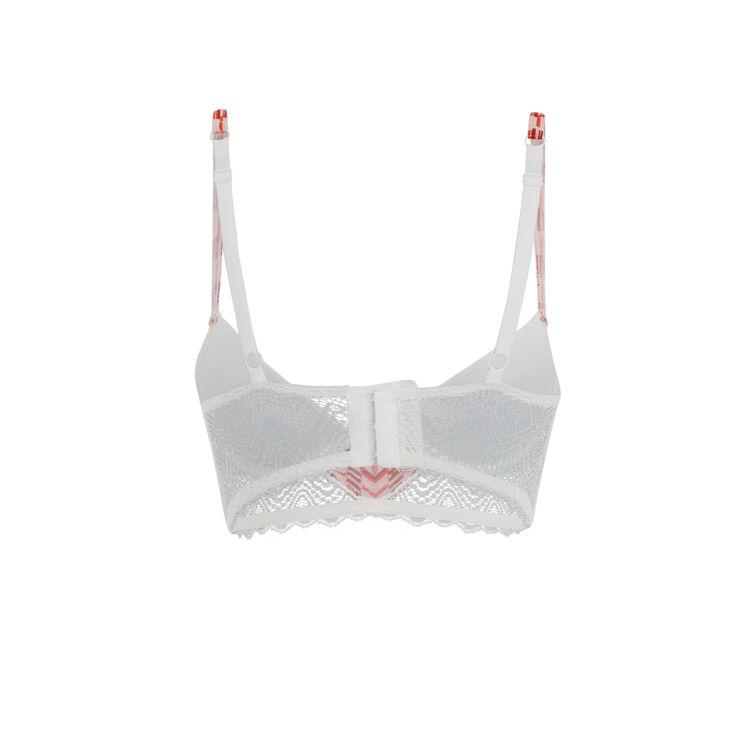 Matchiz white push-up bustier bra;
