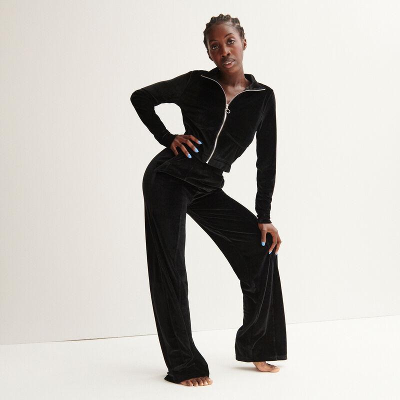 """Aya x undiz velour """"girl"""" jogging bottoms - black;"""