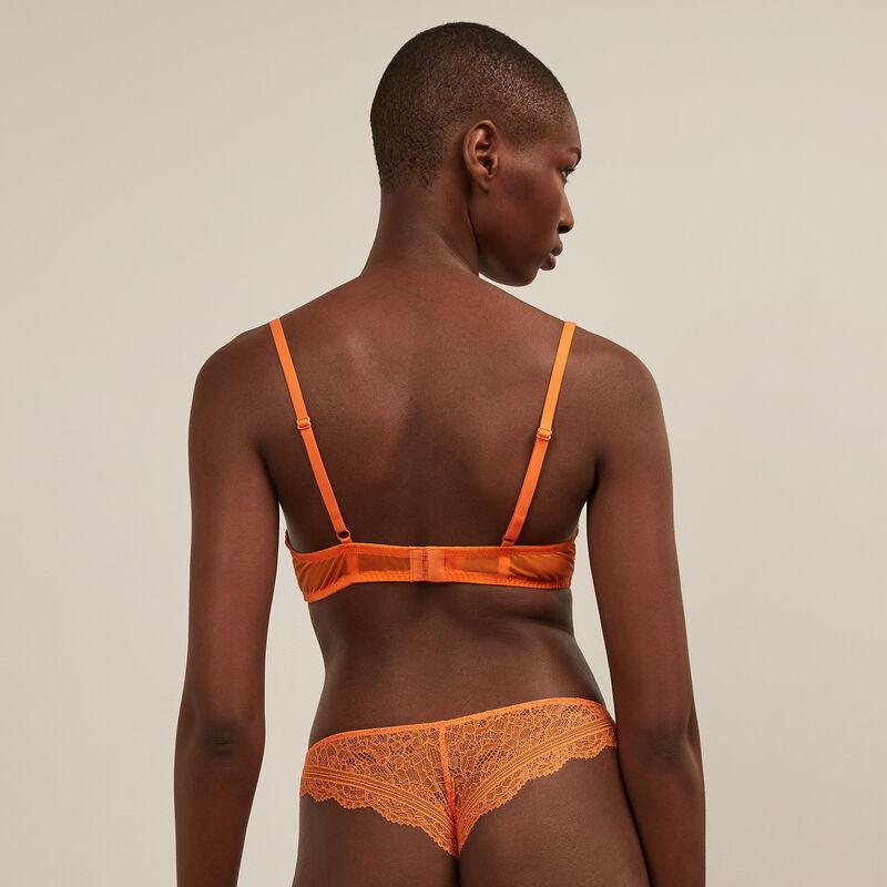 Lace tanga - orange;