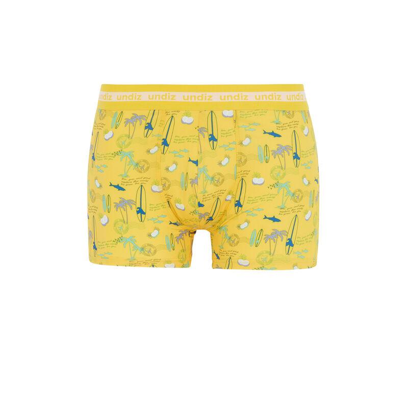 Surf print boxers - yellow;