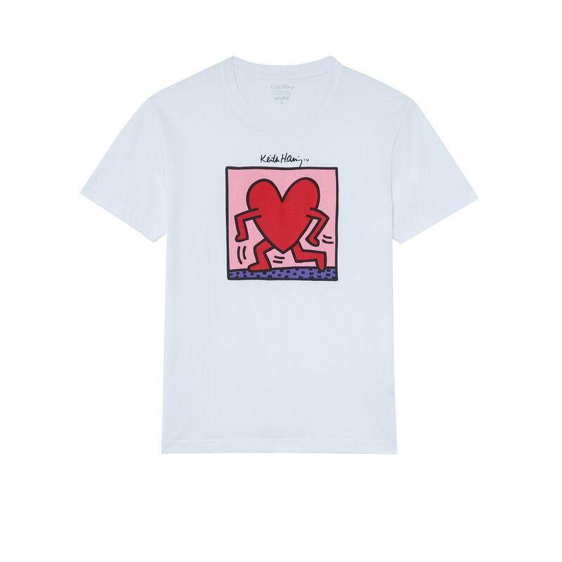 Keith Haring heart print top - white;