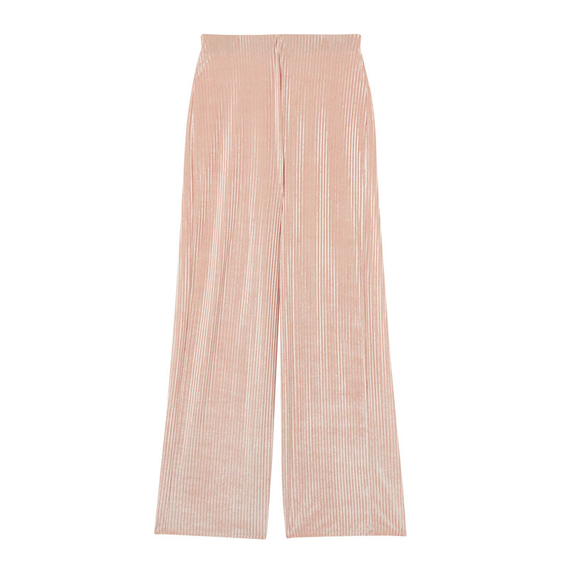 straight high-waisted trousers - nude pink;