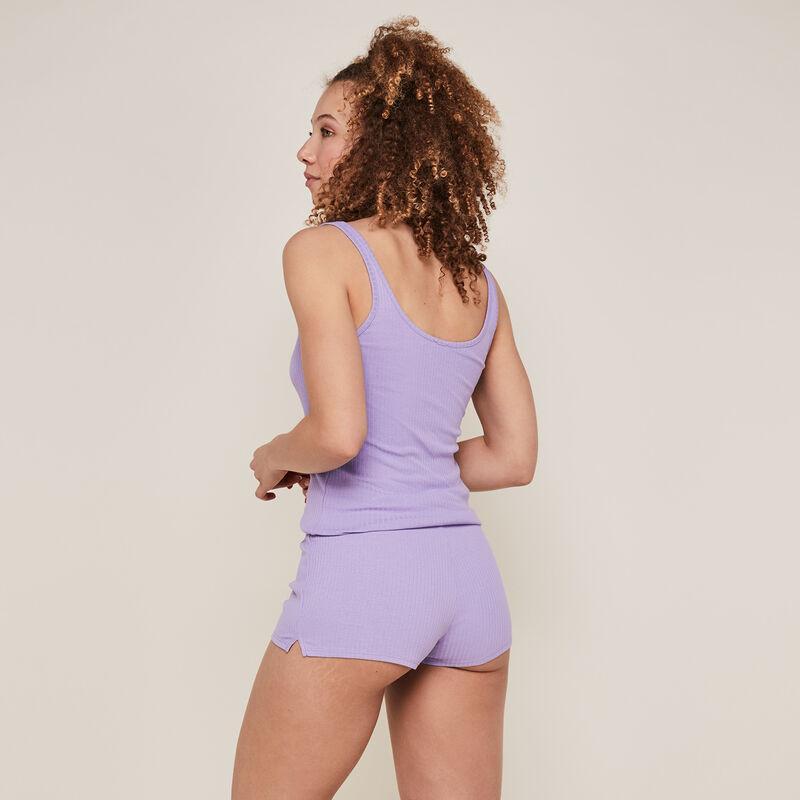 Однотонные шорты из джерси - лиловый;