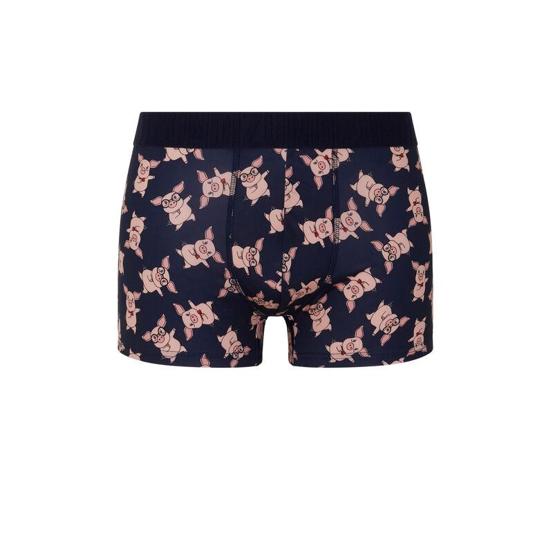 Piggiz microfibre boxers with print;