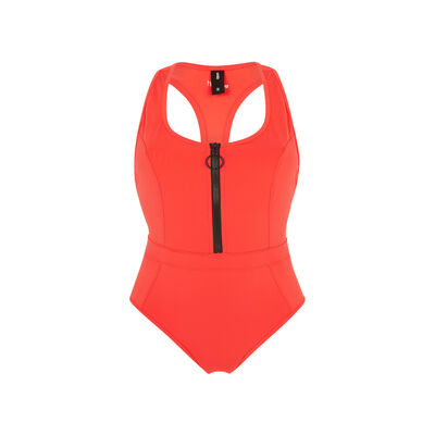 Superbodiz red workout swimsuit ;