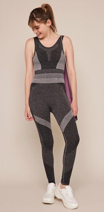 Seamblockiz seamless sports jumpsuit dark grey.