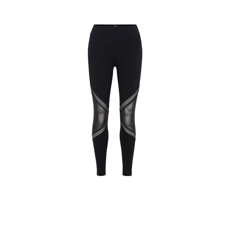 PUNKSPORTIZ BLACK LEGGINGS;